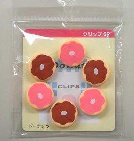 Pika Pika Japan Clip Set 6P doughnut