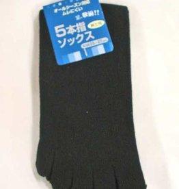 Pika Pika Japan Men's knee-length 5 finger socks black PB