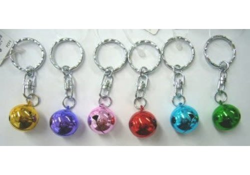 6 size turnable bell key rings : PB
