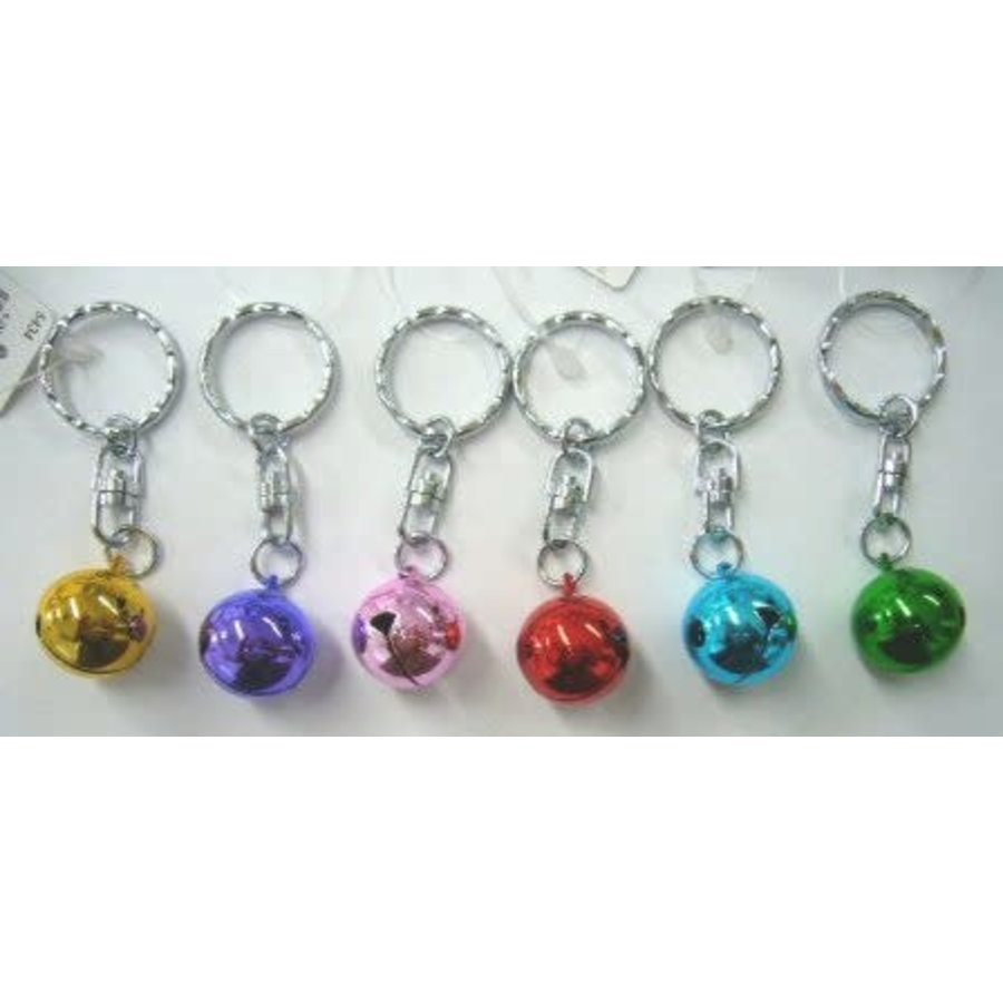 6 size turnable bell key rings : PB-1