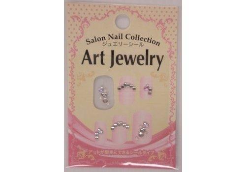 Nail sticker, jewelry heart