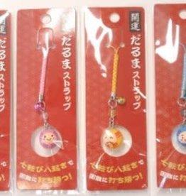 Pika Pika Japan Mini Daruma strap with bell : PB