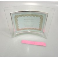 Glass photo frame L size curving horizontal : PB
