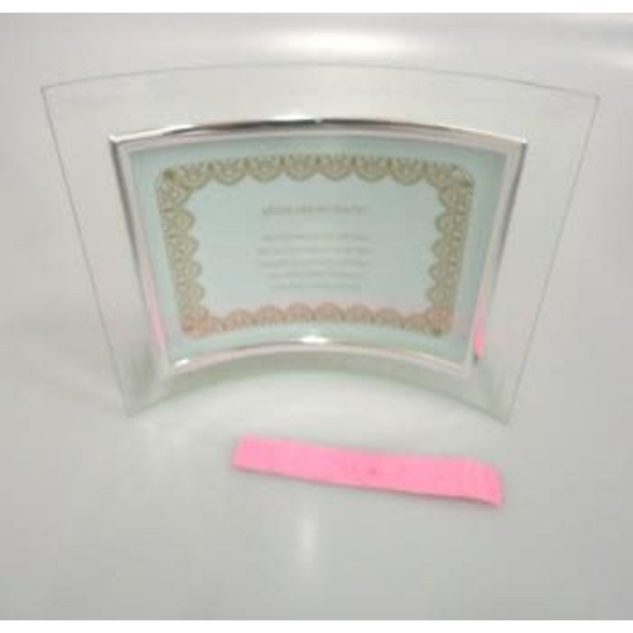 Glass photo frame L size curving horizontal : PB-1