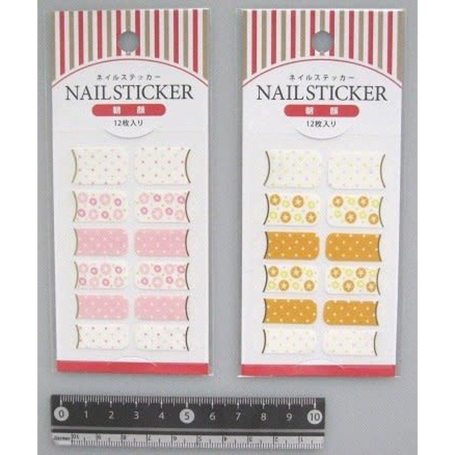 Nail sticker 12p morning glory : PB-1