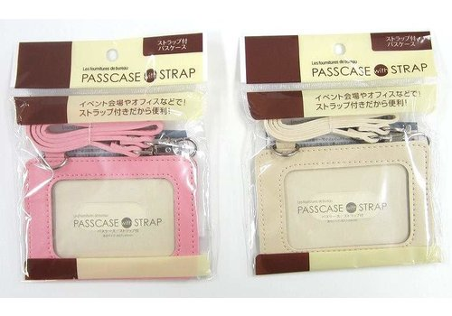Pass case with strap color : PB