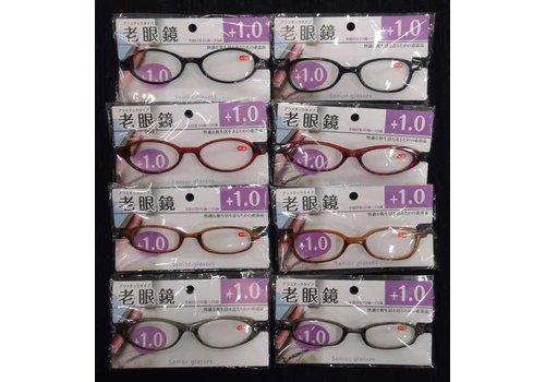 Reading glasses, +1.0