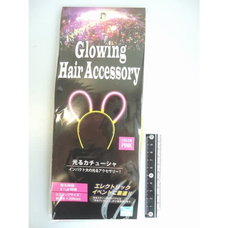 Glowing hair band pink : PB-1