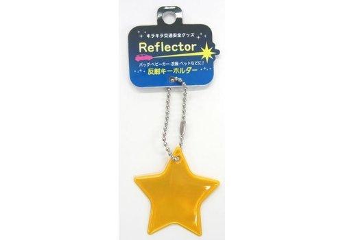 Reflective keychain, star
