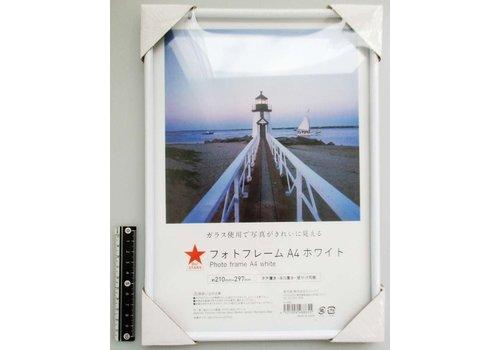 PVC photo frame A4 white : DO