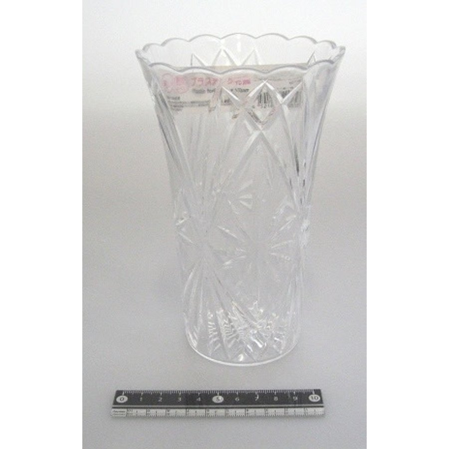 Plastic clear vase 170mm : PB-1