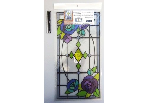 Stained-glass like sheet rose : PB