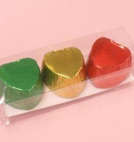 Pika Pika Japan Chocolate cups heart shape C metallic 9p