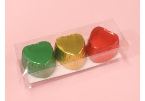 Chocolate cups heart shape C metallic 9p