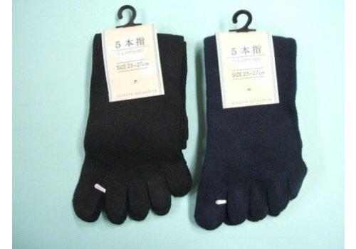 Toe socks for men, black/navy