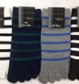 Pika Pika Japan Men's 5 fingers toe sneaker socks