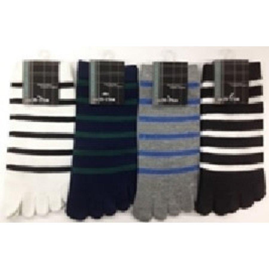Men's 5 fingers toe sneaker socks-1
