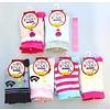 Socks for kids, pinky, cat, strawberry