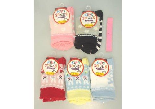 Socks for kids, pinky, rabbit, flower