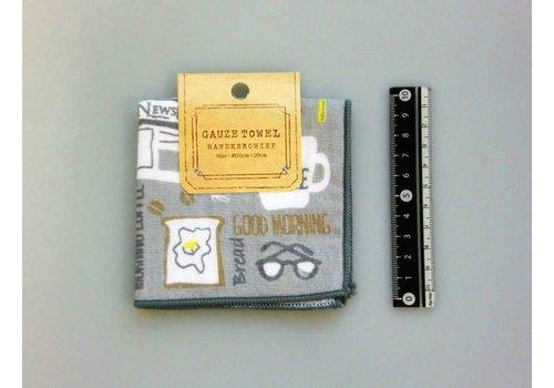 Gauze hand towel  breakfast motif