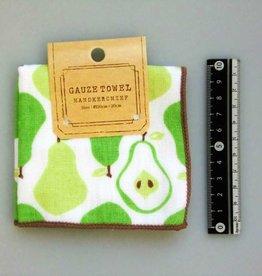 Pika Pika Japan Gauze pile fabric towel handkerchief La France pear motif
