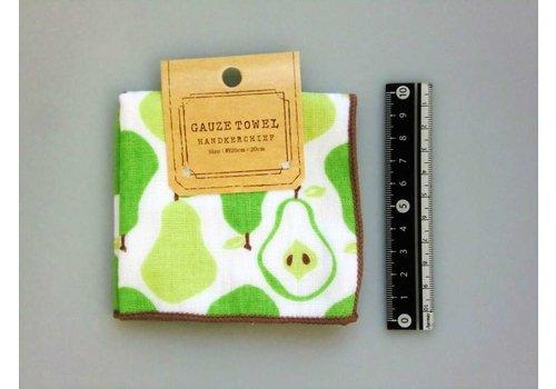 Gauze hand towel pear motif