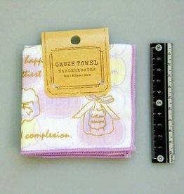 Pika Pika Japan Gauze pile fabric towel handkerchief cosmetic motif