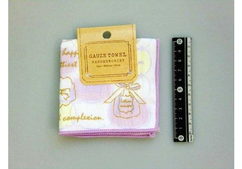 Gauze hand towel  cosmetic motif