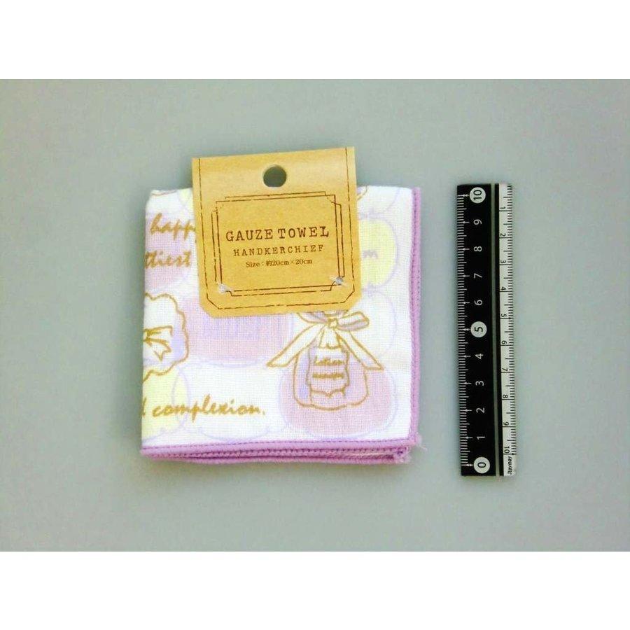 Gauze pile fabric towel handkerchief cosmetic motif-1