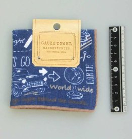 Pika Pika Japan Gauze pile fabric towel handkerchief travel pattern