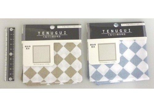 Japanese hand towel diamond pattern
