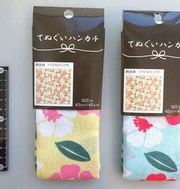 Pika Pika Japan Tenugui handkerchief camellia pattern