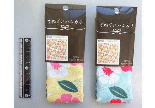 Tenugui handkerchief camellia pattern