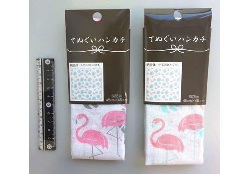 Tenugui handkerchief flamingo pattern