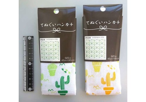 Japanese hand towel cactus pattern
