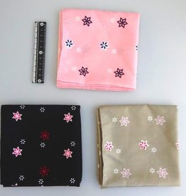 Pika Pika Japan Polyester bandana small flower