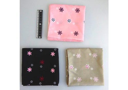 Polyester bandana small flower