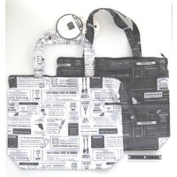 Bag with fastener newspaper pattern : PB