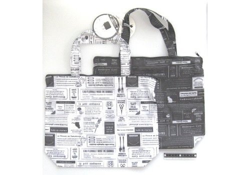 Bag with fastener newspaper pattern : PB
