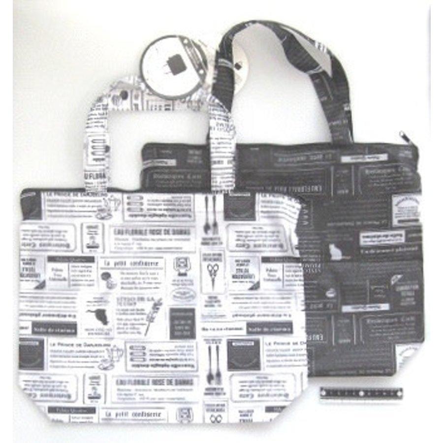 Bag with fastener newspaper pattern : PB-1