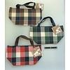 Pika Pika Japan Aluminum bag check pattern