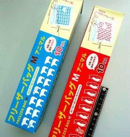 Pika Pika Japan Freezer bag M 10p animal