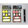 Pika Pika Japan Uitgestanste notitiestickers, monochroom & neon
