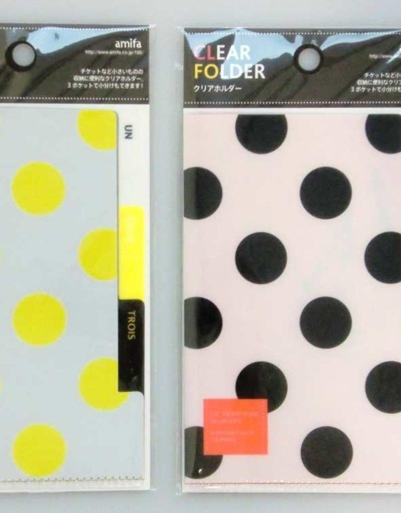 Pika Pika Japan 3 pocket classify pocket holder A6 pattern