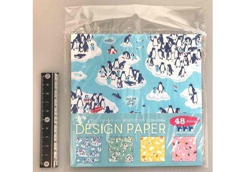 Design papier in 4 relaxende dieren ontwerpen, 48 vellen