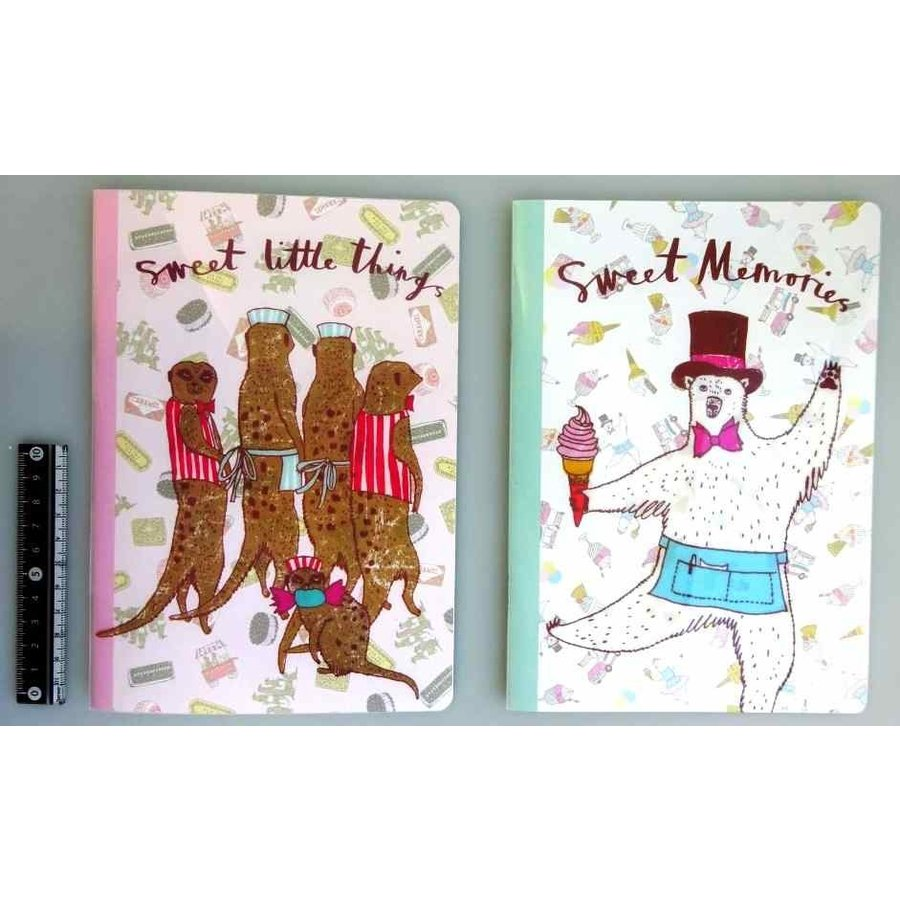 A5 size notebook sweets shop 64s-1