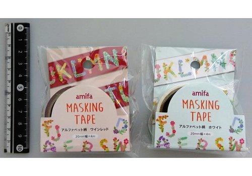 Masking tape 20mm alphabet