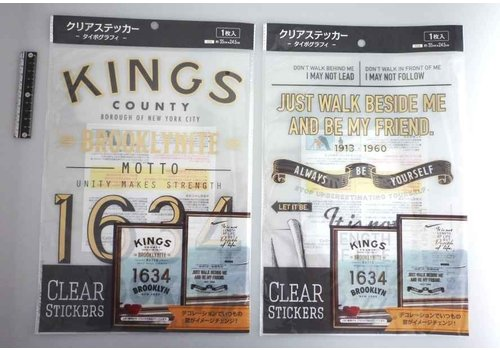 Clear sticker typography