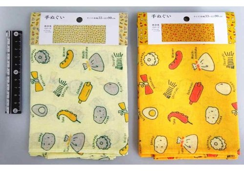 Tenugui hand towel Japanese style oden