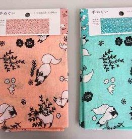 Pika Pika Japan Tenugui towel flower & fox